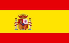 Картинка желтый, флаг, Испания