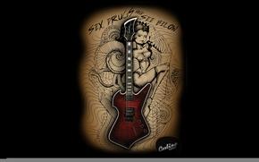 Картинка гитара, наркотики и… смотрите ниже, Drugs and see below, Sex, Секс, Carlino Guitars