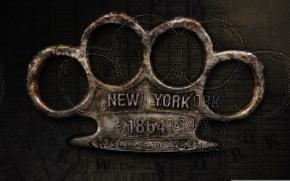 Картинка надпись, полиция, Нью-Йорк, New York, кастет, Легавый, Copper