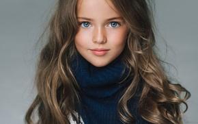 Картинка модель, портрет, девочка, свитер, юная, Кристина Пименова