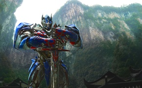 Картинка Grand, Action, Red, Nature, Sky, Rock, Wood, Blue, Robot, the, Color, Warrior, Wallpaper, Optimus Prime, …