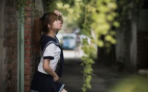 Картинка девушка, улица, style, uniform
