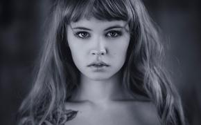 Картинка портрет, тату, боке, Настя, Анастасия Щеглова
