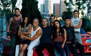 Обои Vin Diesel, Paul Walker, Matt Schulze, The Fast and the Furious, Mia Toretto, Dominic Toretto, ...