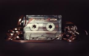 Картинка макро, фон, касета