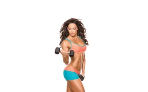 Обои white, Erin Stern, fitness, model, workout, pose