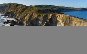 Картинка море, небо, природа, скалы, мыс
