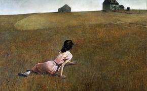 Картинка картина, 1948, мир кристины, эндрю уайет