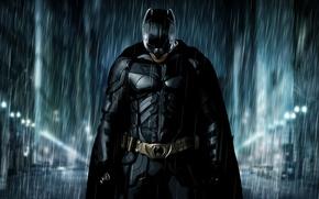 Картинка дождь, улица, Бэтмен, Batman