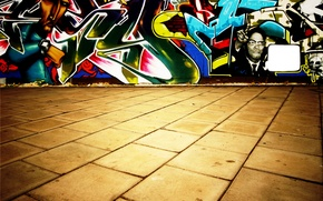 Картинка стена, граффити, Плитка