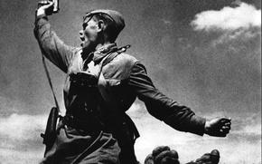 Картинка Советские солдаты, солдат, Победа, герои, ссср, радость, лица
