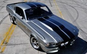 Картинка машина, Mustang, Ford, GT500, мустанг, Eleanor, мускул кар, передок