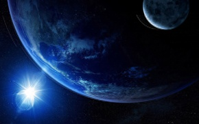 Картинка свет, земля, луна