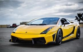 Картинка Lamborghini, Superleggera, Gallardo, передок, Yellow, Supercar
