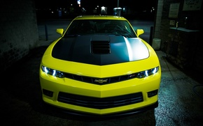 Обои chevrolet, camaro, ss, '2014, yellow