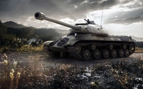 Картинка BigWorld, WoT, tanks, Мир танков, Wargaming.Net, ИС-3, World of Tanks, танки, танк, USSR, СССР, tank