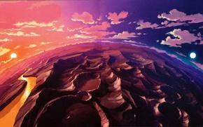 Картинка anime, color, planet