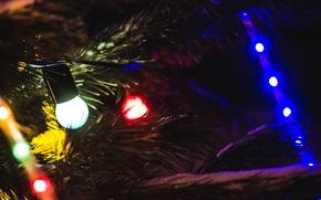 Картинка огни, уют, новый год, герлянды