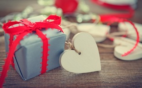 Картинка подарок, сердце, Valentine's Day, романтика, любовь, romantic, love, heart