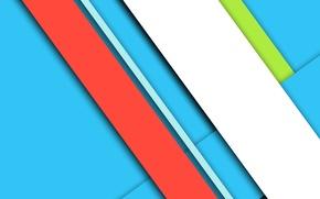Картинка красный, design, белый, линии, color, material, голубой, геометрия