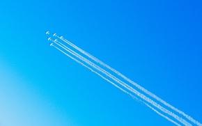 Обои небо, шоу, самолёты