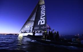 Картинка спорт, яхта, съемка, регата, Атлантика, команда Brunel, Team Brunel arrives to Lisbon, first position