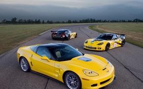 Обои Chevrolet, трек, Corvette
