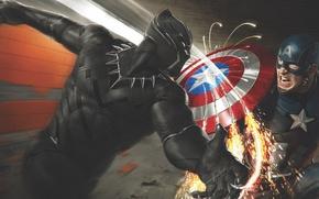 Картинка cinema, fire, battlefield, flame, war, man, Marvel, fight, movie, Captain America, captain, hero, fighting, film, ...