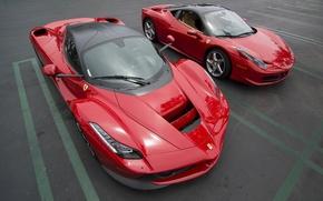 Обои ferrari laferrari, ferrari 458 italia, ferrari, sports cars