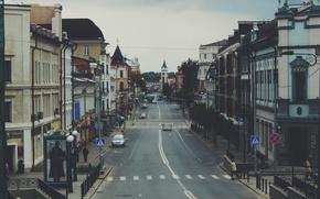 Картинка дорога, улица, дома, казань