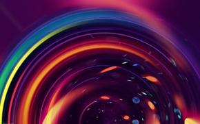 Картинка круги, разные цвета, фон, абстракция