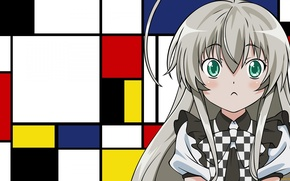 Картинка девушка, аниме, art, Няруко, Няруко-сан, Нярлатхотеп, Haiyore! Nyaruko-san, Ползучий хаос, Nyaruko, nyaruko-san, Крадись! Няруко-сан, Nyarlathotep