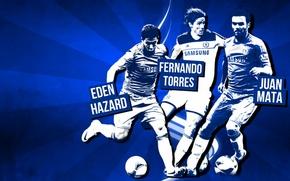 Картинка Blues, Fernando Torres, ФК Челси, FC Chelsea, Juan Mata, Eden Hazard