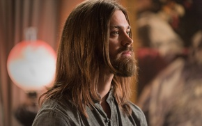 Картинка wallpaper, zombie, long hair, actor, dead, man, death, blonde, mist, The Walking Dead, AMC, TV …