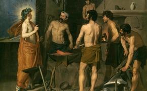 Картинка картина, мифология, Кузница Вулкана, Диего Веласкес