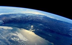 Картинка космос, Мексика, Земля, МКС