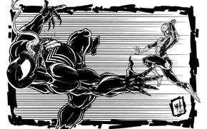 Картинка Рисунок, Фантастика, Marvel, Веном, Venom, Spider Man, Symbiote