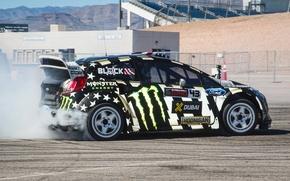 Картинка Ford, Занос, Ken Block, Fiesta, RallyCross