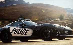 Картинка Dodge, Police, Need for Speed, nfs, 2013, Rivals, NFSR, нфс, Viper SRT GTS