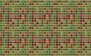 Картинка мозаика, фон, стена, плитка, квадраты, решётка, текстуры, разноцвет