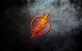 Картинка фон, молния, комиксы, Logo, Flash, флэш, DC Comic