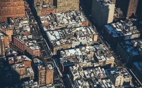 Картинка USA, United States, cars, New York, Manhattan, NYC, roads, streets, architecture, roofs, America, vehicles, tops, …
