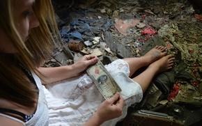 Картинка девушка, настроение, деньги