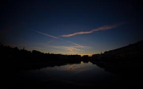 Картинка небо, солнце, закат, город, Москва, sanchezis