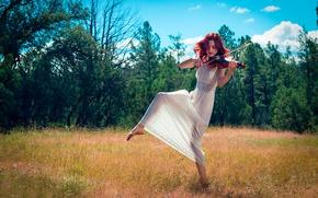 Картинка лето, танец, скрипачка