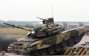 Обои полигон, танк, т-90