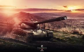 Картинка Игры, Арт, World of Tanks, T57 Heavy Tank, Wargaming, FuriousGFX