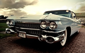 Картинка Машина, небесного цвета, cadillac eldorado 1959