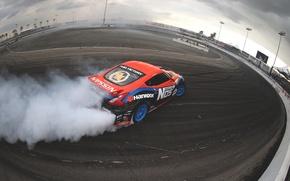 Картинка дым, занос, nissan, дрифт, drift, smoke, ниссан, 370z, скольжение
