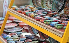 Картинка цветные, красиво, тарелки, греция